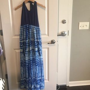 Halter top maxi dress